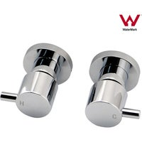 Wall Mounted Round Bath Shower Taps Set 1/4 turn Square
