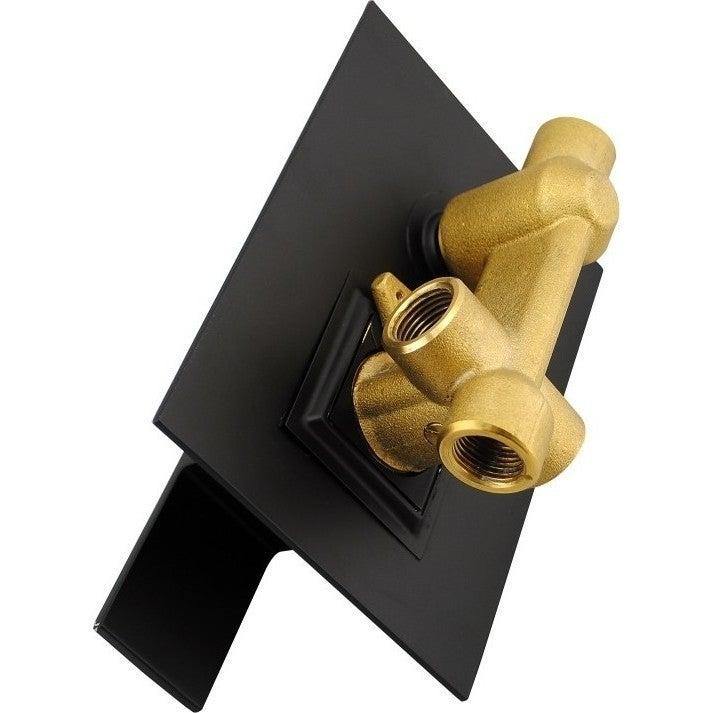 Luxury Shower/Handheld Bath Spout Square Diverter Mixer