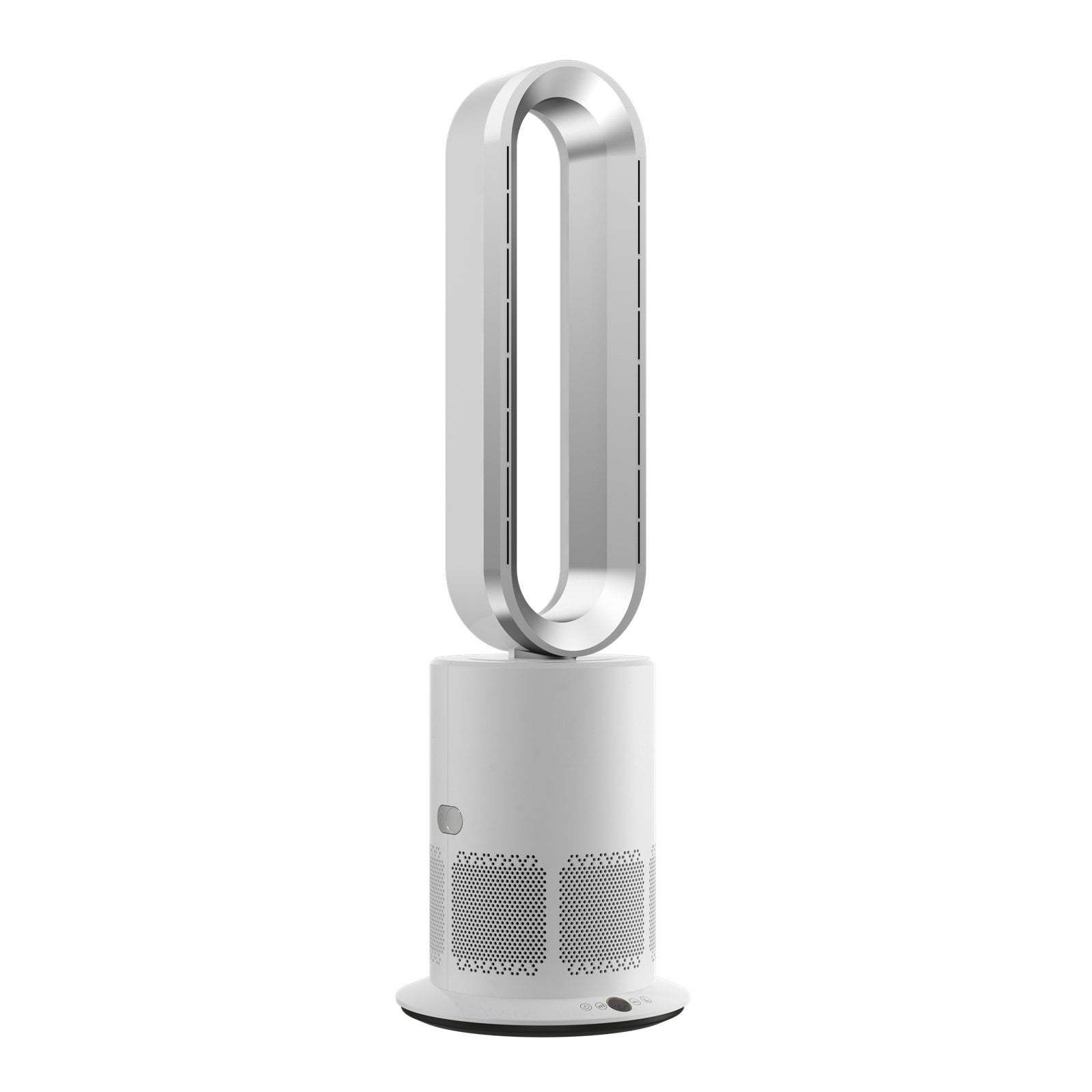 ANGELO Floor Cool Heat Bladeless Fan Air Purification Remote Control 9h Timer 10 Speeds   Buy Tower Fans - 1707787