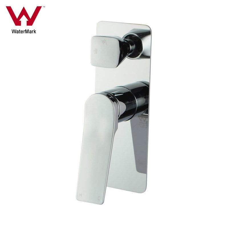 Rumia Chrome Shower Wall Mixer Tap With Diverter