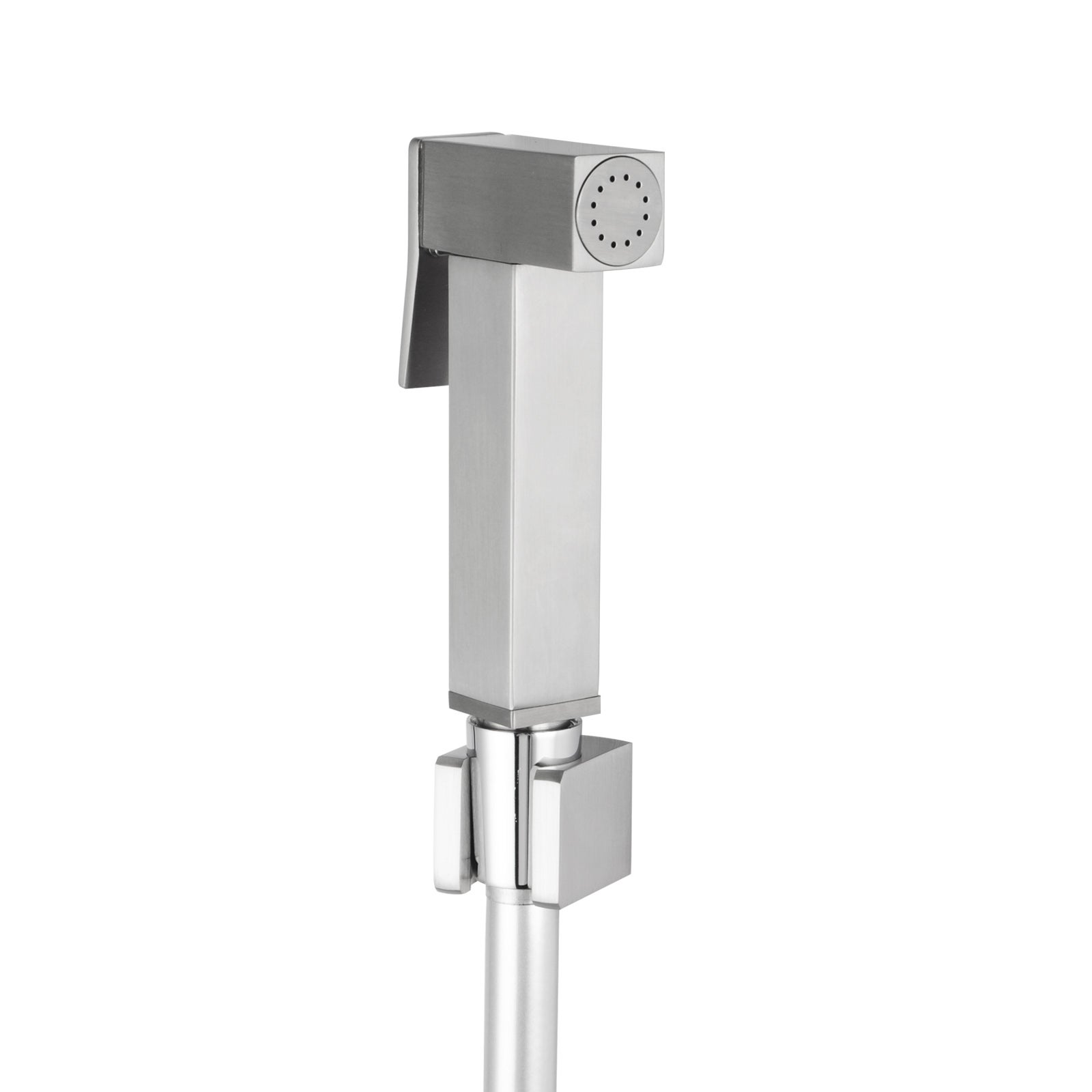 Magnificent Square Brass Brushed Nickel Toilet Bidet Spray Kit With 1 2M Pvc Hose Pabps2019 Chair Design Images Pabps2019Com