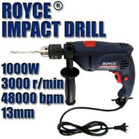 Royce Hammer Drill Tools Professional 1000w 13mm