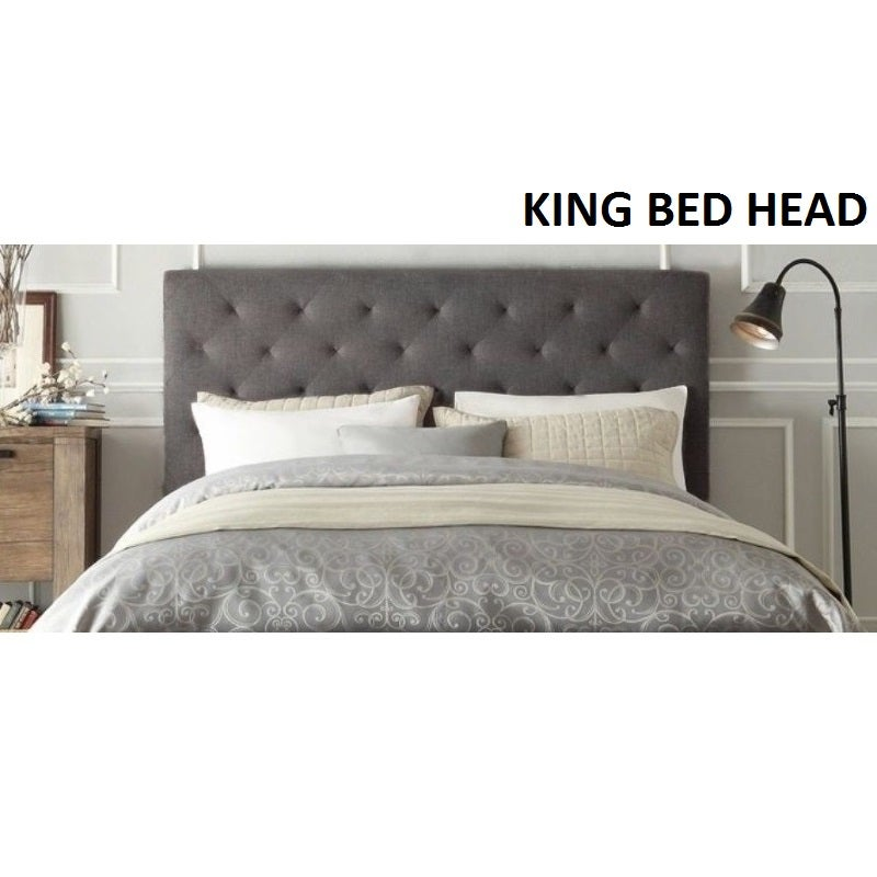 check out 5f25c 0f860 Windsor King Size Fabric Bed Head Headboard in Grey