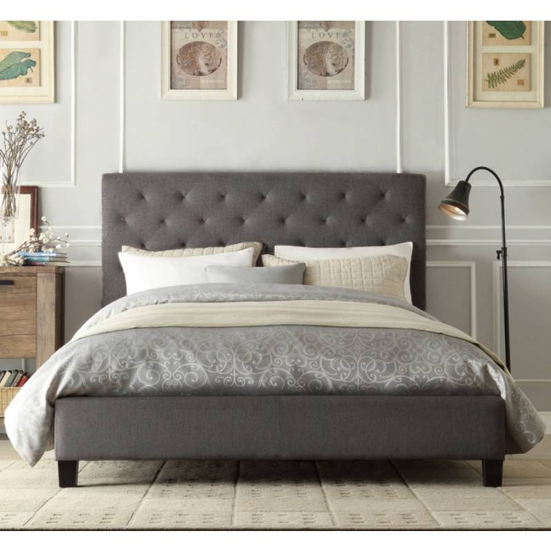 huge selection of 7995c 1d8e4 Windsor Queen Size Buttoned Fabric Bed Frame Grey