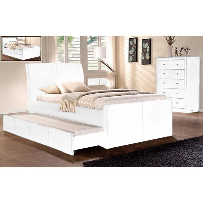 competitive price 35cb8 567e7 Hamilton King Single Size Bed Frame w Trundle in White