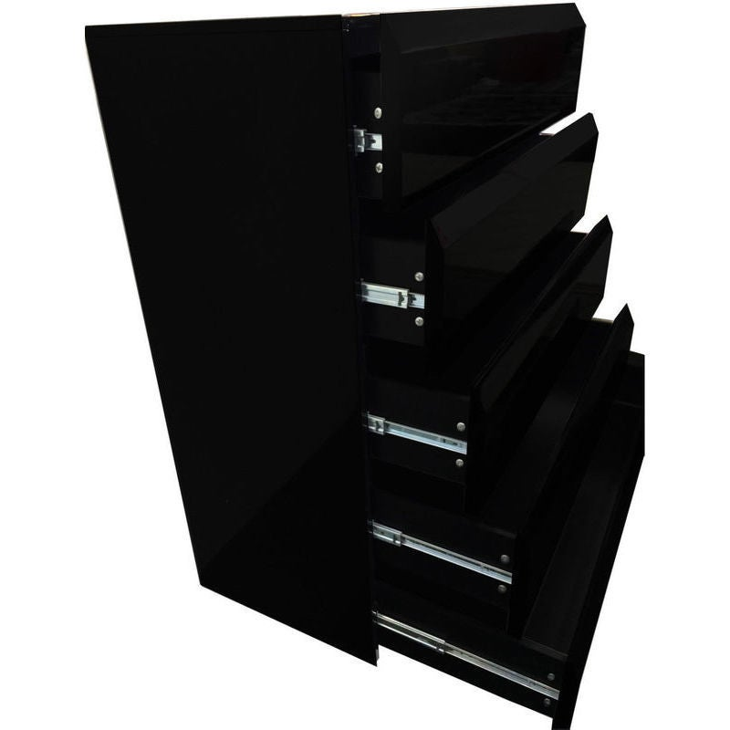 various colors 2530f b505d Tallboy Chest of 6 Drawers in High Gloss Black