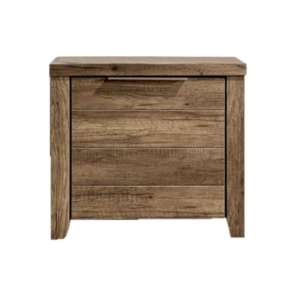 separation shoes d4c46 5ef68 Alice Rustic Bedside Table w/ 2 Drawers in Oak Tone