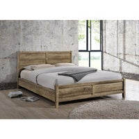 Alice Queen Size Modern Bed Frame in Oak Tone