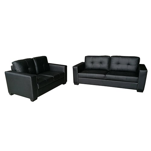 Pleasant Nikki 2 3 Seater Pu Leather Sofa Couch Set Black Pdpeps Interior Chair Design Pdpepsorg