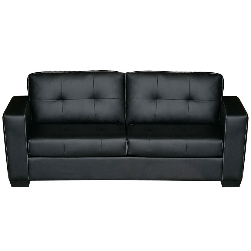 Nikki 3 Seater PU Leather Sofa Couch in Black   Buy Sofas ...