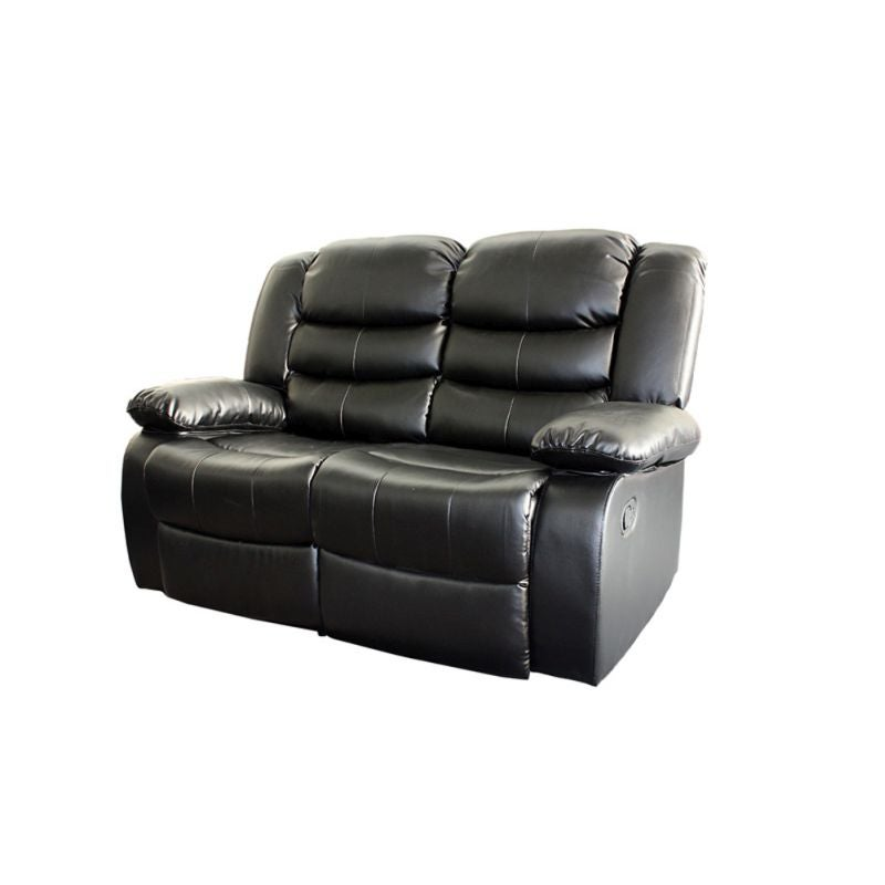2 Seat Bonded Leather Recliner Couch Chair In Black Buy
