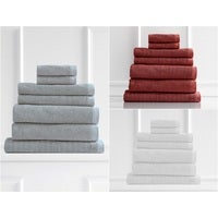 Style & Co Resort 7 Piece Towel Pack 600GSM Egyptian Cotton Hotel Grade