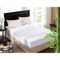 Royal Comfort 1000GSM Luxury Bamboo Fabric Gusset Mattress Pad Topper Cover