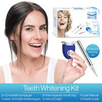 Celebrity White Premium Teeth Whitening Gel Kit System Pearly White Bright Smile White