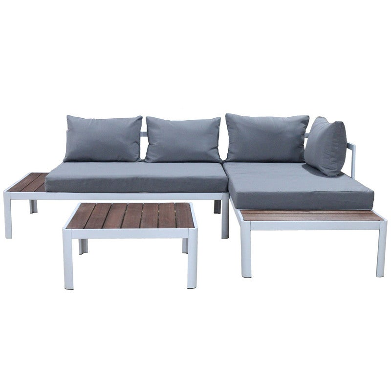 migliore vendita nuovo massimo davvero comodo Milano 3pc Outdoor Furniture Lounge Sofa Set Poolside Deck Patio Setting  Garden Grey/ Brown/ White