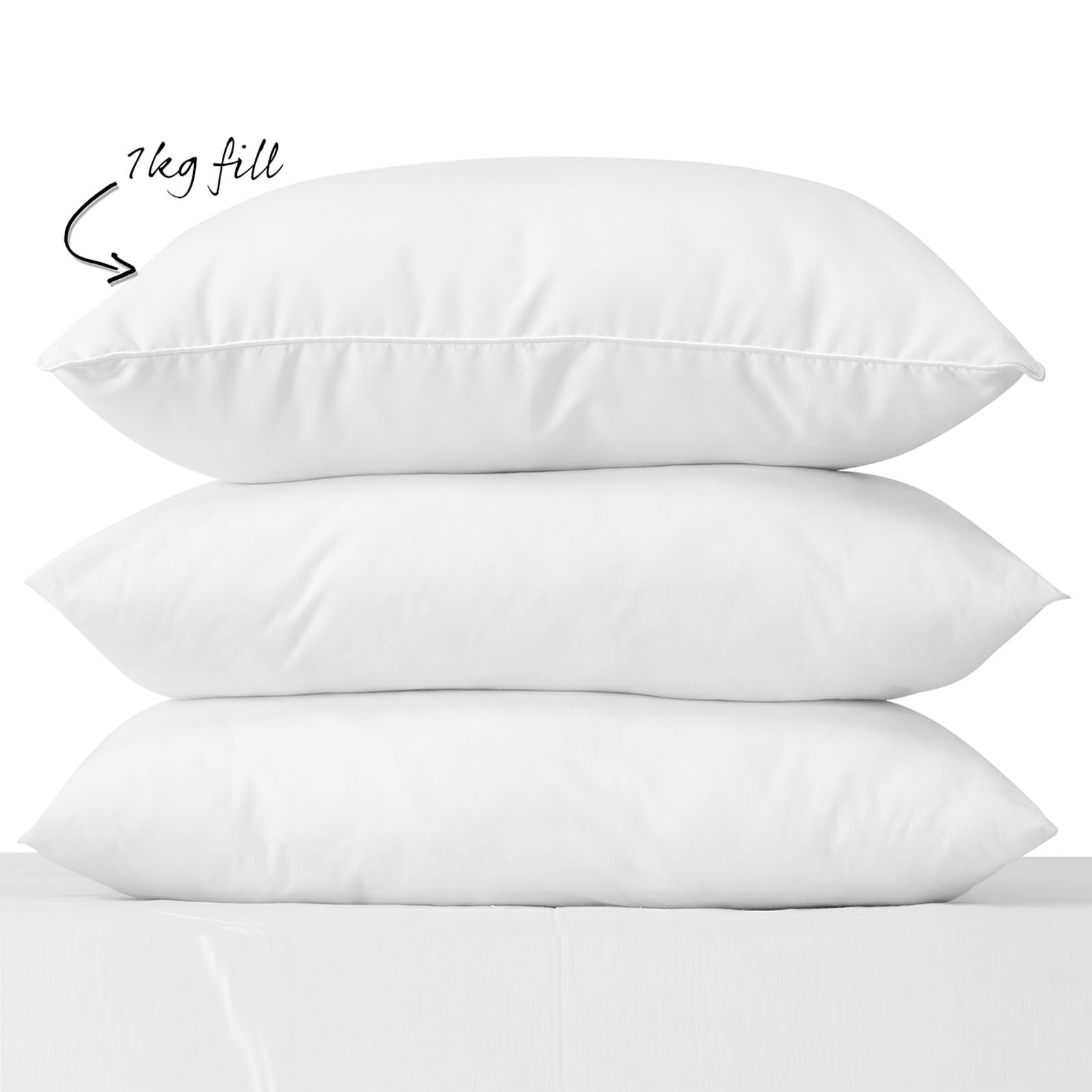 DELUXE DUCK FEATHER AND DOWN PILLOWS 100/% COTTON COVER BOX PILLOW PACK