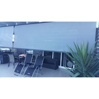 Outdoor Roller Sun Shade Blinds Charcoal 2.5 x 2.5m