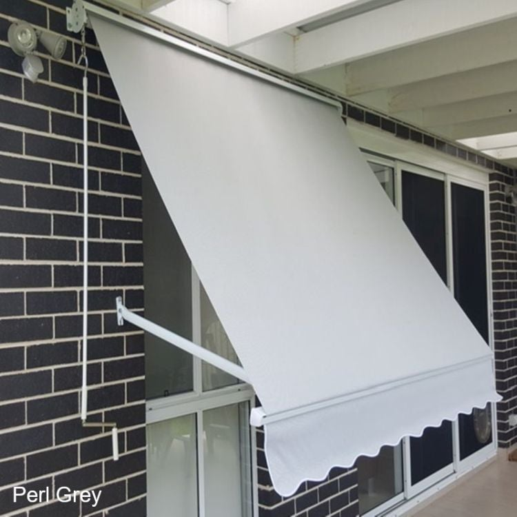 Sunscreen Pivot Arm Awning With Aluminium Hood In Charcoal