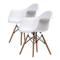 Replica Eames DAW Armchair - WHITE X2