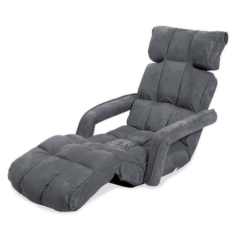 Lounge Sofa Microfiber Armchair Zig-Zag - CHARCOAL | Buy ...