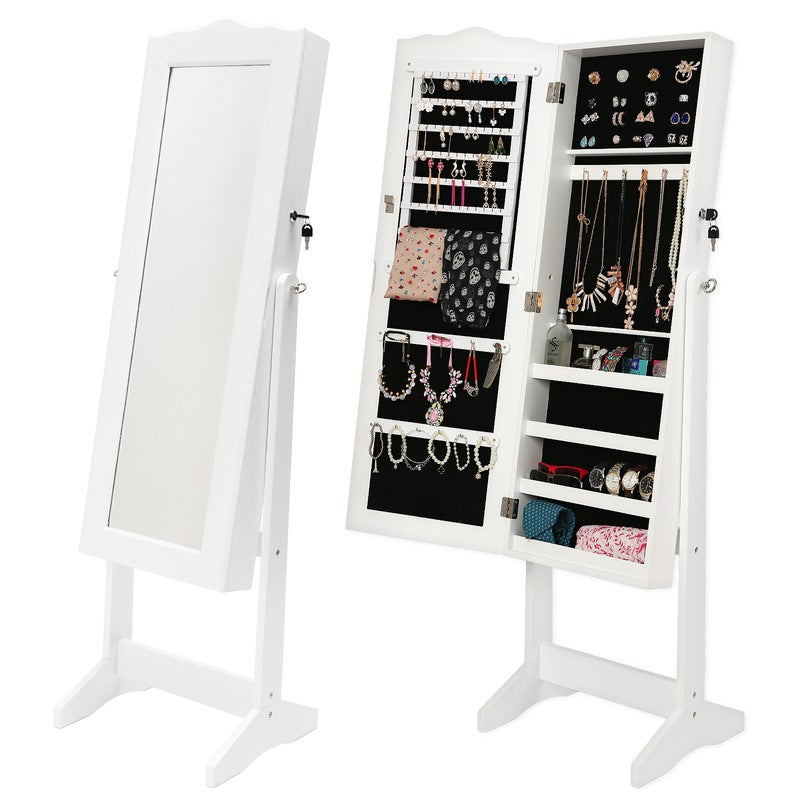 Mirror Jewellery Cabinet NYKA - White | Buy Mirror ...