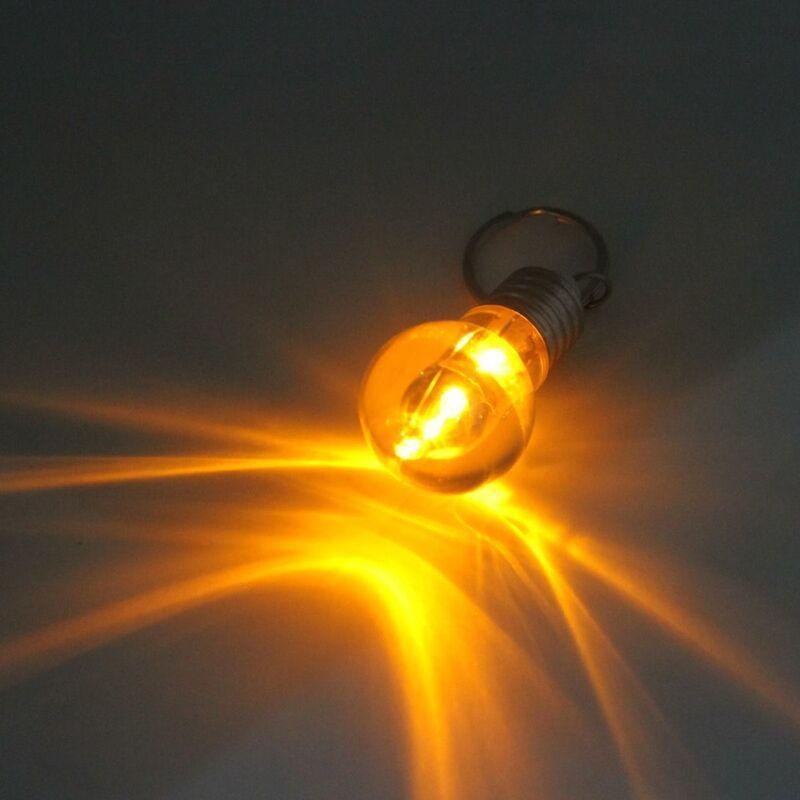 12 pcs of Battery Operated LED Bulbs Keyring light Paper Lanterns Wedding 2700K
