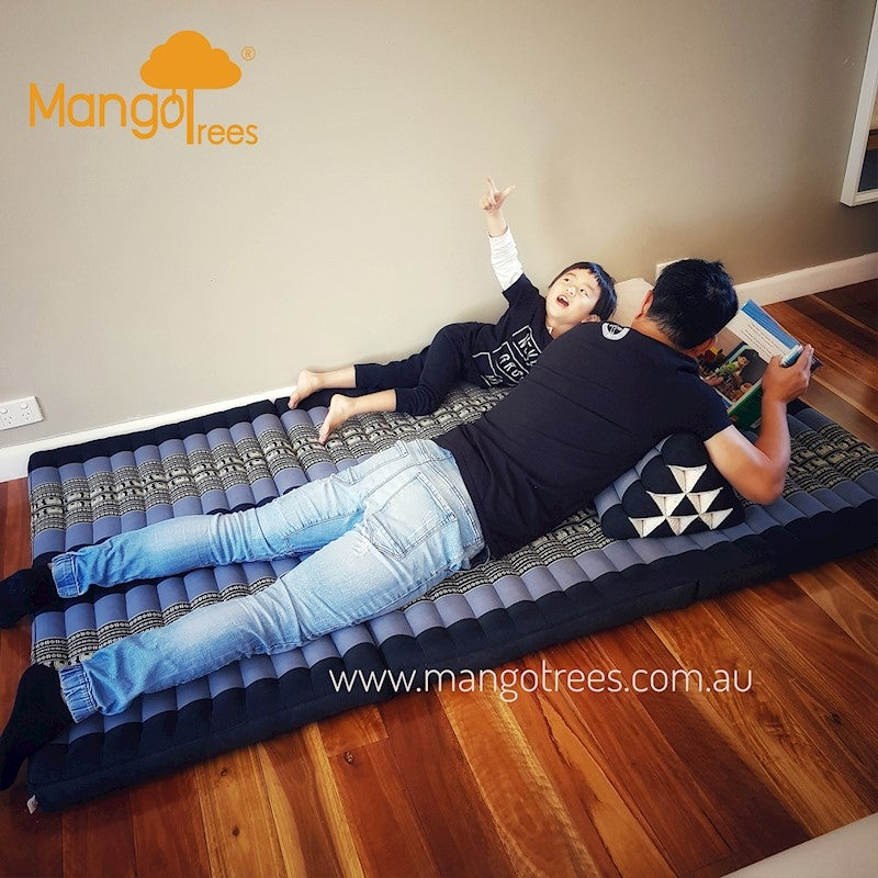 2 foldable mattress Kapok mat meditation massage natural Thai daybed foldable