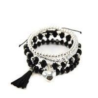 Avalon Winter Black Silver Bracelet