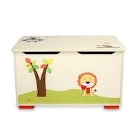 Kids' Painted MDF Wooden Toy Storage Box 50L