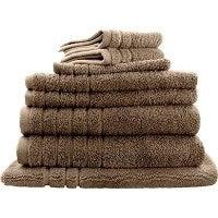 8pc Soft Egyptian Cotton Bath Towel Set in Latte