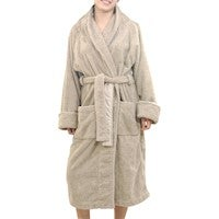 Luxury 18 OZ/550 GSM Thick Terry Fabric Orgnically Natural Colour Pure Cotton Bath Robe Dressing Gowns Unisex Men and Women