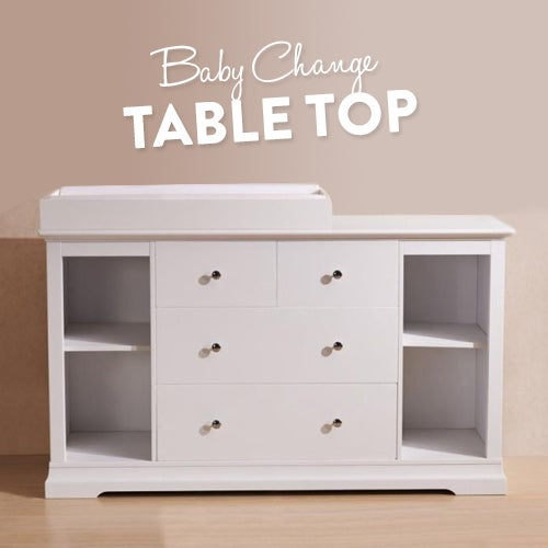 White Chest Of Drawers And Baby Change Table Top Buy Changing
