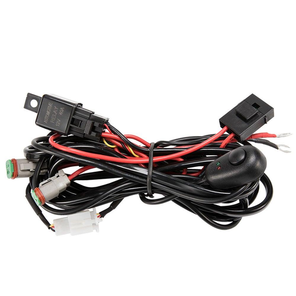 2 Way High Beam Wiring Loom Harness 12v 40a Relay Switch Kit Driving Light Bar Buy Vehicle Light Wiring Kits 9356307000627