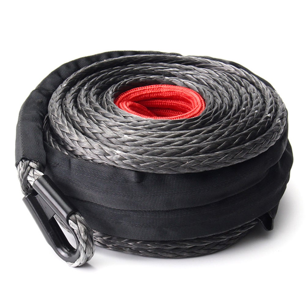 6mm Dyneema SK75 Synthetic 12-Strand Winch Rope x 20m With Hook Off Road ATV