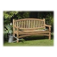 Aussie Outdoors Oval Back Teak Wood Garden Bench