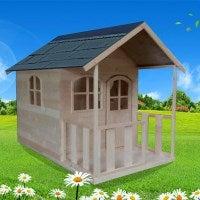 Large Wooden Kids Cubby House w Verandah 185x118cm