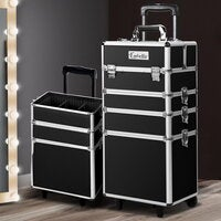 7 In 1 Professional Makeup Case Travel Trolley Beauty Cosmetic Box