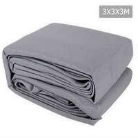 Instahut 3 x 3 x 3m Triangle Shade Sail Cloth - Grey