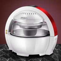 Devanti 13L 1300W LCD Digital Air Fryer Oven Multifunctional Cooker Red