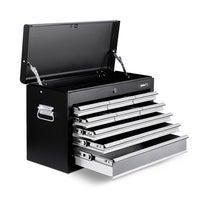 Giantz Tool Chest Cabinet Box 9 Drawers Toolbox Storage Garage Black
