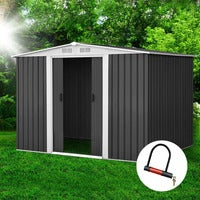 Garden Shed 2.57x2.05x1.78M Storage Shed Outdoor Workshop Shelter