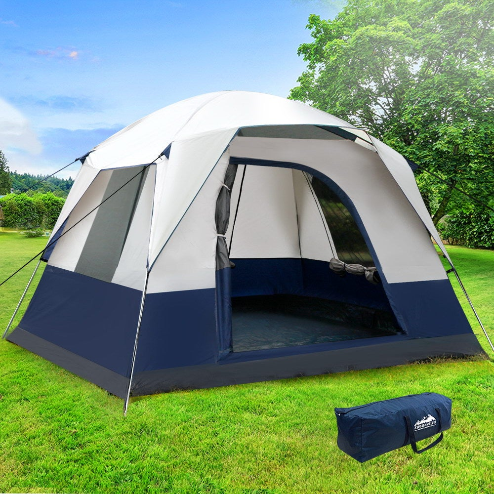 Family Camping Tent 4 Person Hiking Beach Tents Canvas ...