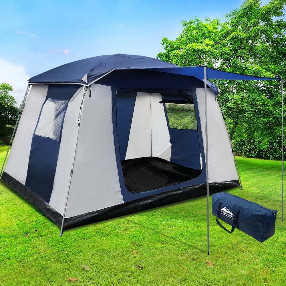 Family Camping Tent 6 Person Hiking Beach Tents Canvas ...