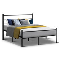 Artiss Metal Double Bed Frame - Black