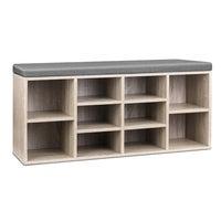 Artiss Shoe Cabinet Bench Shoes Storage Rack Organiser Wooden Shelf Cupboard Box