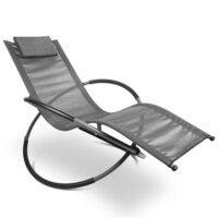 Gardeon Outdoor Zero Gravity Rocking Chair - Grey
