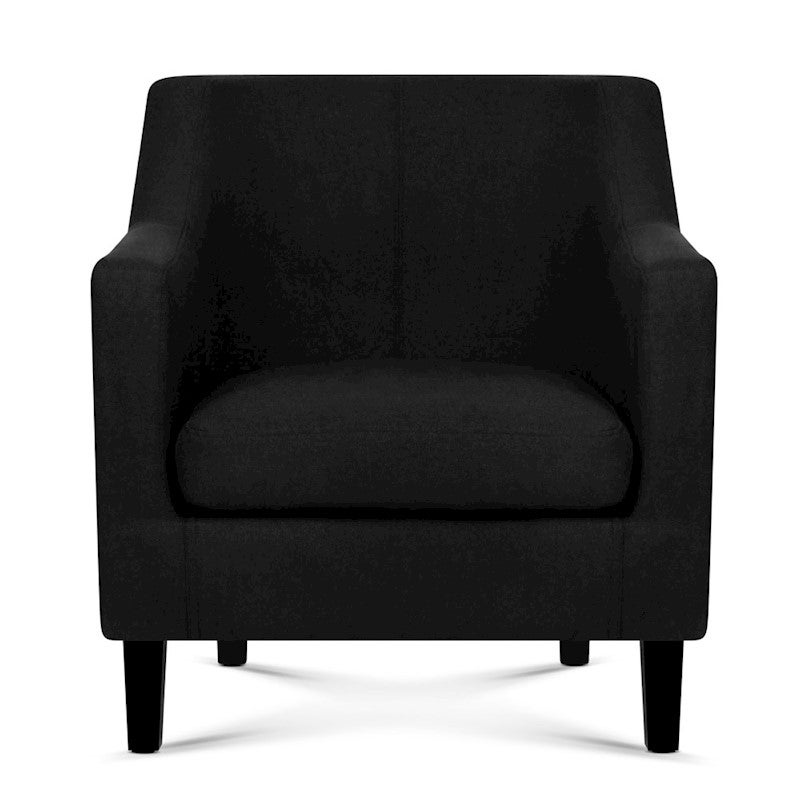 Artiss Fabric Dining Armchair - Black | Buy Armchairs ...