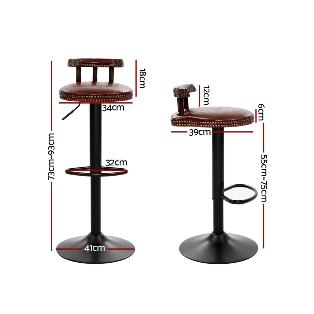 artiss 2x kitchen bar stools vintage bar stool chairs