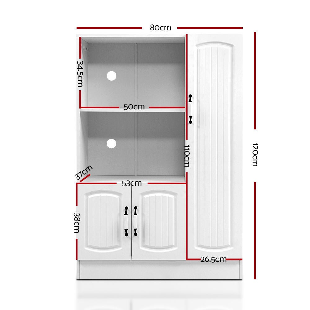 Artiss Buffet Sideboard Cabinet Storage Cupboard Doors ...