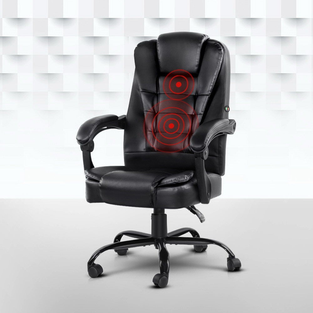 Massage Office Chair Gaming Pu Leather Recliner Computer